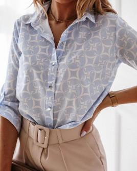 Γυναικείο πουκάμισο με print 2100903