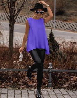 Γυναικείο μπλουζοφόρεμα 3286 μωβ