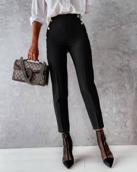 Γυναικείο εντυπωσιακό παντελόνι 5949 μαύρο