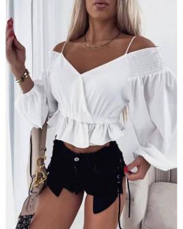 Γυναικεία εντυπωσιακή μπλούζα 8238 άσπρη