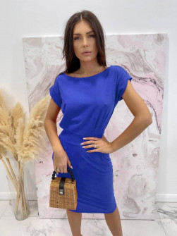 Γυναικείο απλό φόρεμα 8152 μπλε