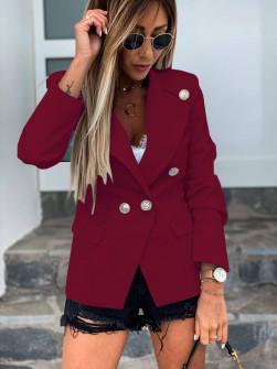 Γυναικείο κομψό σακάκι με φόδρα 5272 μπορντό