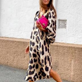 Γυναικείο εντυπωσιακό φόρεμα με φουσκωτό μανίκι 21748