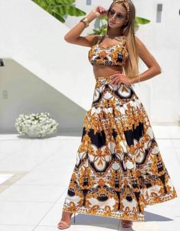 Γυναικείο σετ τοπάκι και φούστα 5569301