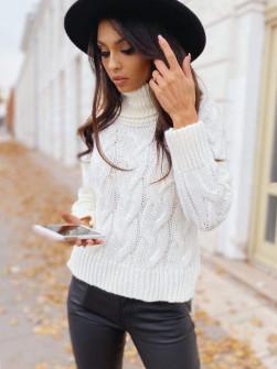 Εντυπωσιακό πουλόβερ 8087 άσπρο