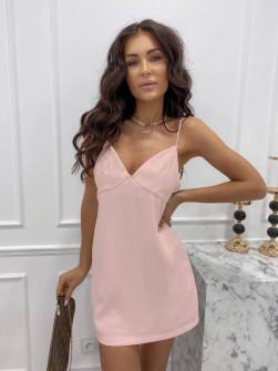 Γυναικείο κοντό φόρεμα 3605 ροζ