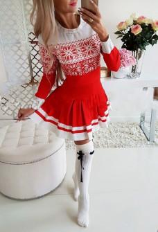 Γυναικείο κλος φόρεμα 7210 κόκκινο