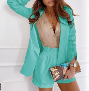 Γυναικείο σετ σακάκι και παντελόνι 5045 μέντα