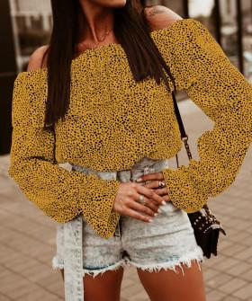 Γυναικεία έξωμη μπλούζα 26110 κίτρινη
