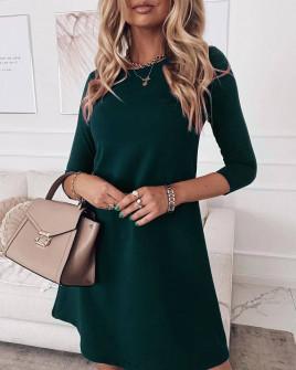 Γυναικείο ριχτό φόρεμα 3796 πράσινο