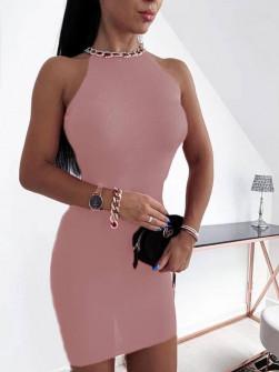 Εντυπωσιακό φόρεμα 2675 ροζ