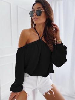 Γυναικεία έξωμη μπλούζα 3374 μαύρη