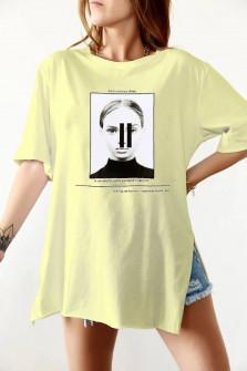 Γυναικείο κοντομάνικο 191918 κίτρινο