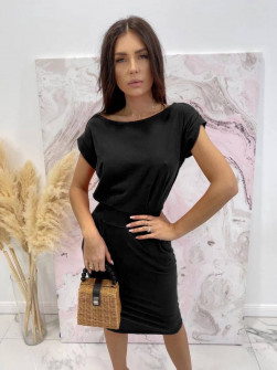 Γυναικείο απλό φόρεμα 8152 μαύρο