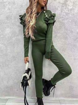 Γυναικείο εντυπωσιακό σετ 2691 πράσινο