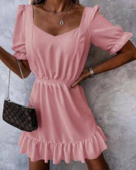 Γυναικείο χαλαρό φόρεμα 5712 ροζ