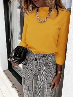 Γυναικεία μπλούζα λουπέτο 5300 κίτρινη