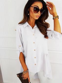 Γυναικείο ασύμμετρο πουκάμισο 5220 άσπρο