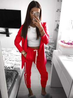 Γυναικείο σετ σακάκι και παντελόνι 3972 κόκκινο