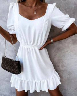 Γυναικείο χαλαρό φόρεμα 5712 άσπρο