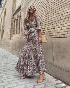 Γυναικείο φόρεμα με λεοπάρ 5806
