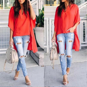 Γυναικείο μπλουζοφόρεμα 3561 κόκκινο