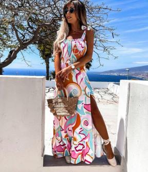 Γυναικείο φόρεμα με σφηκοφωλιά 21426