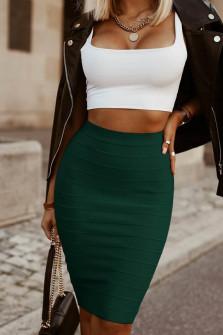 Γυναικεία ψηλόμεση φούστα 2399 πράσινο