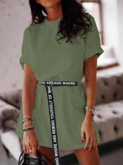 Γυναικείο αθλητικό φόρεμα 2422 σκούρο πράσινο