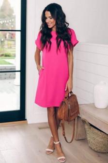 Γυναικείο φόρεμα 12204 φούξια