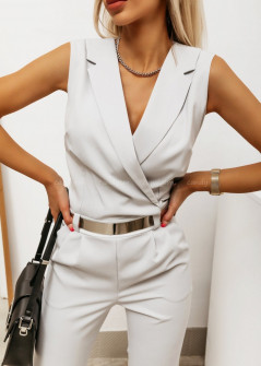 Γυναικεία ολόσωμη φόρμα 2520 άσπρη