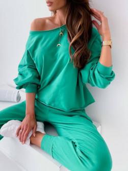 Γυναικείο μονόχρωμο σετ 61070 πράσινο