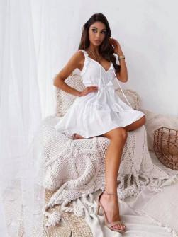 Γυναικείο εντυπωσιακό φόρεμα 5703 άσπρο