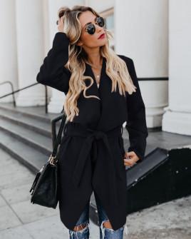 Γυναικείο παλτό 1220 μαύρο