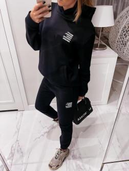 Γυναικείο σετ με κουκούλα 4221 μαύρο