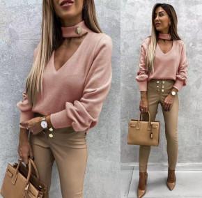 Γυναικεία εντυπωσιακή μπλούζα 5459 ροζ
