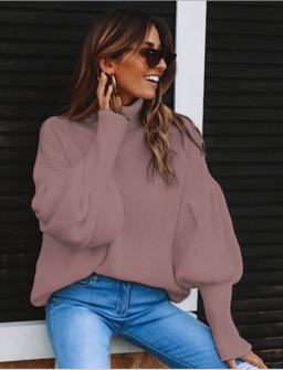 Γυναικείο πουλόβερ ζιβάγκο 2530 ροζ