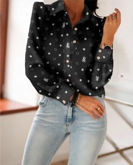 Γυναικείο πουκάμισο 398403 μαύρο