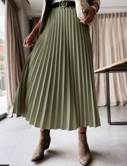 Γυναικεία φούστα σολέιγ 5644 σκούρο πράσινο