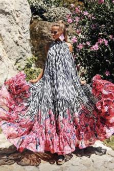 Εντυπωσιακό μακρύ φόρεμα 5056