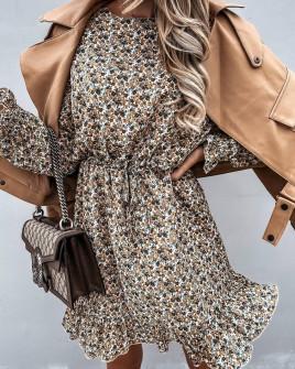 Γυναικείο φόρεμα με print 595504