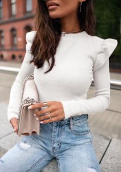 Εντυπωσιακή εφαρμοστή μπλούζα 5400 άσπρη