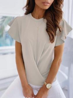 Γυναικεία εντυπωσιακή μπλούζα 2200 μπεζ