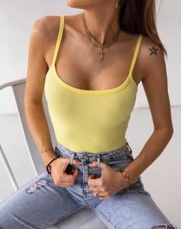 Γυναικείο απλό τοπάκι 3160 κίτρινο