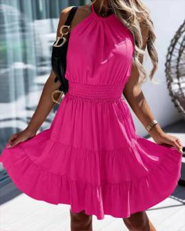 Γυναικείο κλος φόρεμα 5855 φούξια