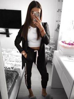 Γυναικείο σετ σακάκι και παντελόνι 3972 μαύρο