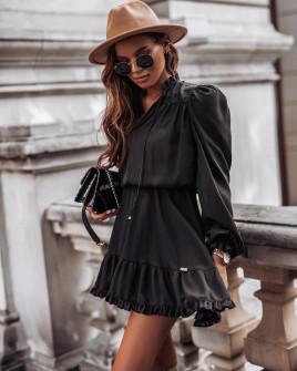 Γυναικείο εντυπωσιακό φόρεμα 7105 μαύρο