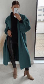 Παλτό χωρίς φόδρα 20911 πράσινο