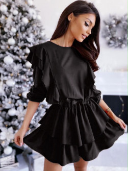 Γυναικεία εντυπωσιακό φόρεμα 1909 μαύρο