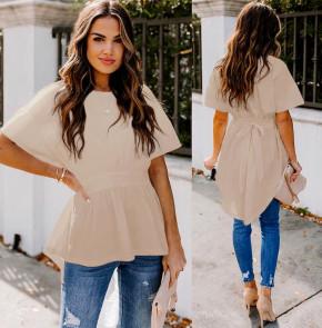 Γυναικείο μπλουζοφόρεμα με κορδόνι 5063 μπεζ